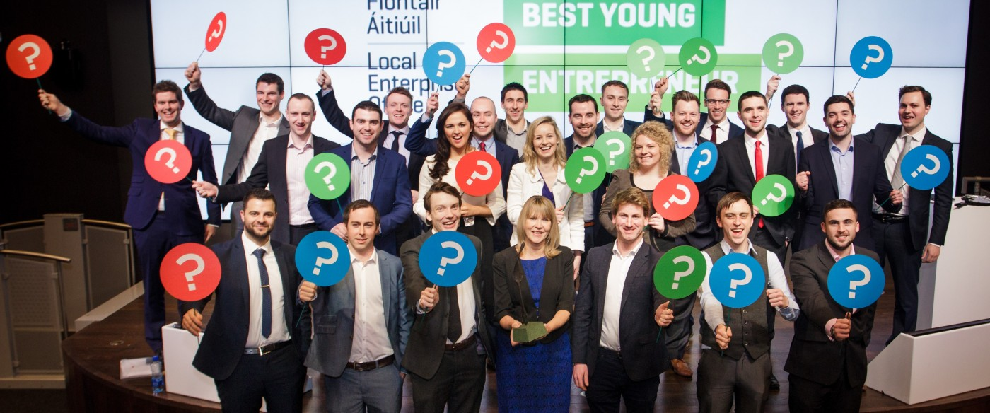 All IBYE National Finalists pictured with Sheelagh Daly of the Local Enterprise Offices at Google